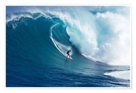 Premiumposter  Giant wave off Maui - Ron Dahlquist