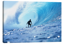 Canvastavla  Surfer in the pipeline Barrel - Vince Cavataio