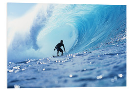 PVC-tavla  Surfer in the pipeline Barrel - Vince Cavataio
