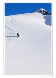 Premiumposter  Snowboarder in the Chugach Mountains - Dan Bailey