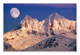 Premiumposter Moon over the Tongass National Forest