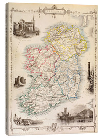 Canvastavla  Karta över Irland av Thomas Wright (18th century) - Ken Welsh