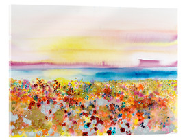 Akrylglastavla  Field Of Joy, Abstract Landscape - Tara Thelen