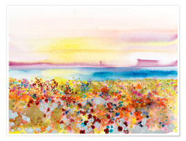 Premiumposter  Field Of Joy, Abstract Landscape - Tara Thelen