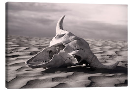 Canvastavla  Skull in the desert - Carson Ganci