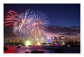 Premiumposter  New Year's Eve in Sydney - Matteo Colombo