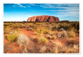 Premiumposter  Ayers Rock in the evening - Matteo Colombo