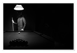 Premiumposter  Pool players and billiard balls - Richard Wear