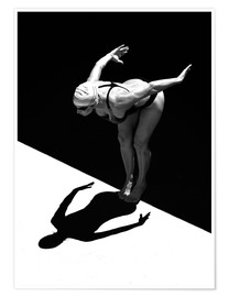 Premiumposter  A woman jumps into the water I - Ben Welsh