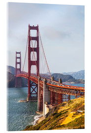 Akrylglastavla  Golden Gate Bridge in San Francisco - Leah Bignell