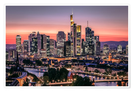 Premiumposter  Skyline Frankfurt am Main Sundown - Frankfurt am Main Sehenswert