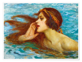 Premiumposter  A little sea maiden - William Henry Margetson