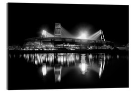 Akrylglastavla  Weserstadion, Bremen in black and white - Tanja Arnold Photography