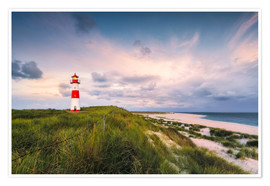 Premiumposter  Lighthouse in the morning light (Sylt / Elbow / List East) - Dirk Wiemer