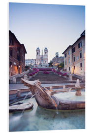 PVC-tavla  Famous Spanish Steps and Bernini fountain, Rome, Italy - Matteo Colombo