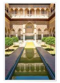 Premiumposter  Court of the virgins in the royal Alcazar - Matteo Colombo