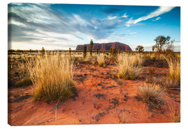 Canvastavla  Red Desert at Ayers Rock - Matteo Colombo