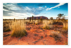 Premiumposter  Red Desert at Ayers Rock - Matteo Colombo