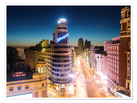 Premiumposter  Madrid in the night - Matteo Colombo