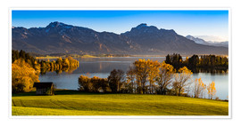 Premiumposter Lake in Bavaria with Alps