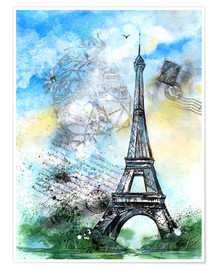 Premiumposter Memory of Paris