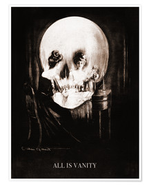 Poster  All is vanity (Sepia) - Charles Allan Gilbert