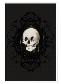 Premiumposter All is vanity (Baroque Frame)