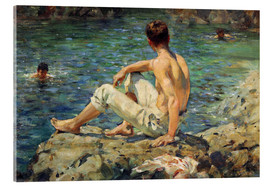 Akrylglastavla  Green and Gold - Henry Scott Tuke