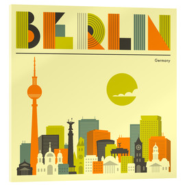Akrylglastavla  Berlin skyline - Jazzberry Blue