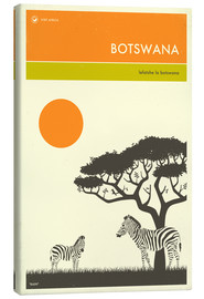Canvastavla  Botswana - Jazzberry Blue