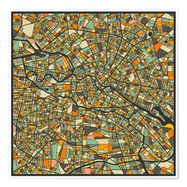 Premiumposter  Berlin Map - Jazzberry Blue