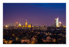 Premiumposter  Leipzig Skyline at night - Martin Wasilewski