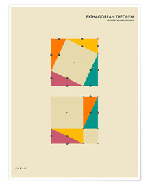 Poster  Pythagorean theorem - Jazzberry Blue