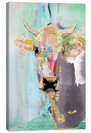Canvastavla  Cow collage - GreenNest
