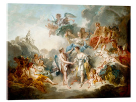 Akrylglastavla  Cupid and Psyche celebrate wedding - François Boucher
