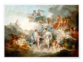 Premiumposter Cupid and Psyche celebrate wedding