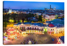 Canvastavla  View from the Vienna Giant Ferris Wheel on the Prater - Benjamin Butschell