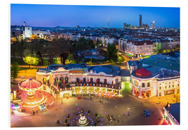 PVC-tavla  View from the Vienna Giant Ferris Wheel on the Prater - Benjamin Butschell