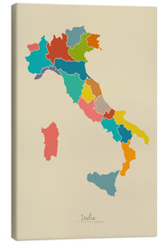 Canvastavla  Modern map of Italy Artwork Design - Ingo Menhard