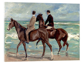 Akrylglastavla  Two riders on the beach - Max Liebermann