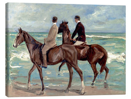 Canvastavla  Two riders on the beach - Max Liebermann