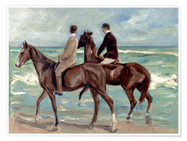 Premiumposter  Two riders on the beach - Max Liebermann