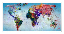 Premiumposter Map of the world