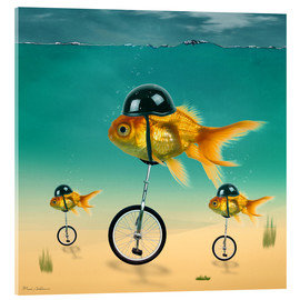 Akrylglastavla  gold fish - Mark Ashkenazi