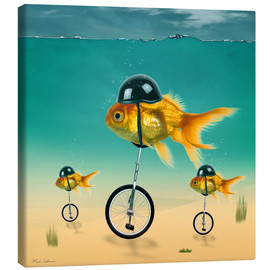 Canvastavla  gold fish - Mark Ashkenazi