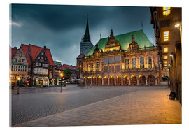 Akrylglastavla  Bremen Market Square with City Hall - Rainer Ganske