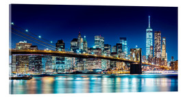 Akrylglastavla  New York illuminated Skyline - Sascha Kilmer