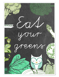 Premiumposter Eat your greens