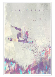 Poster  explorers snowboard - HappyMelvin
