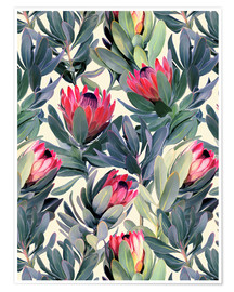 Premiumposter Painted Proteas